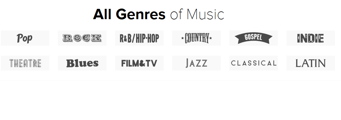 All Genres of Music
